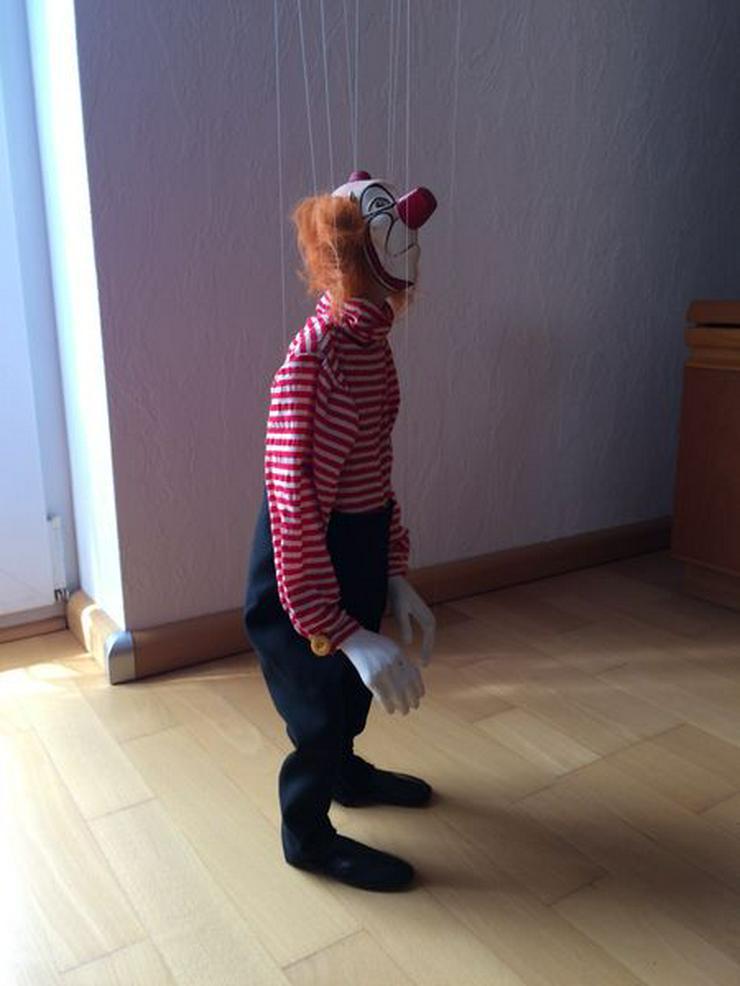"""Bild 2: UNBESPIELT Marionette """"Clown"""", Handarbeit"""