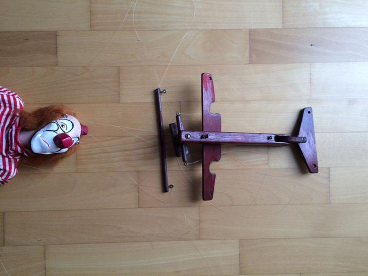 """Bild 6: UNBESPIELT Marionette """"Clown"""", Handarbeit"""