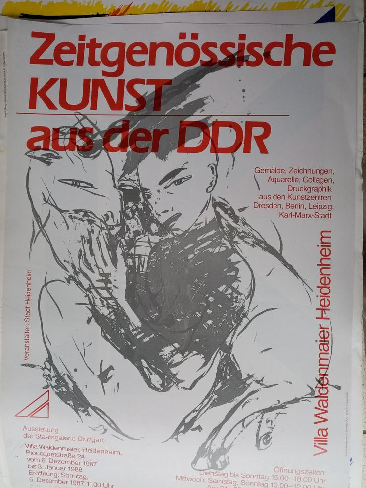 Bild 5: Plakat DDR Zeitgenossen VBK Malerei 1987  Heidenheim