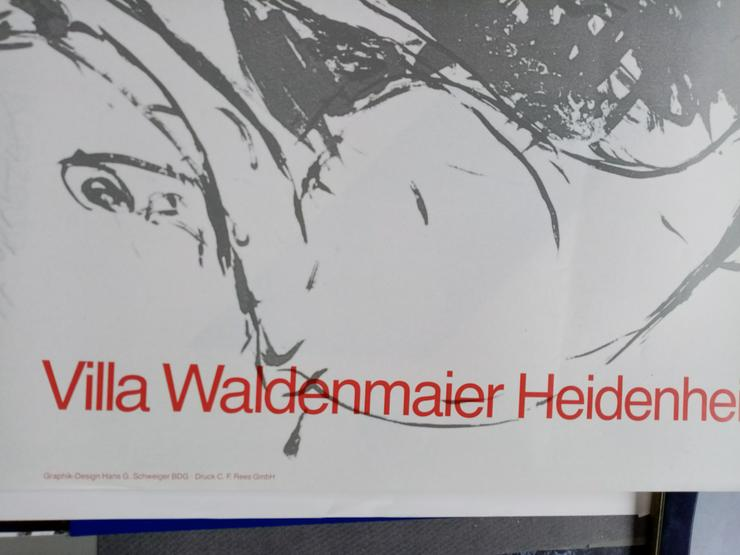Bild 2: Plakat DDR Zeitgenossen VBK Malerei 1987  Heidenheim