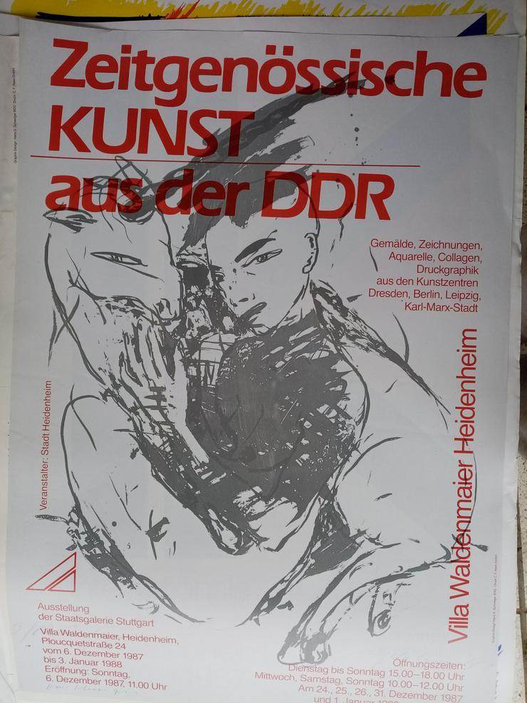 Plakat DDR Zeitgenossen VBK Malerei 1987  Heidenheim - Poster, Drucke & Fotos - Bild 1