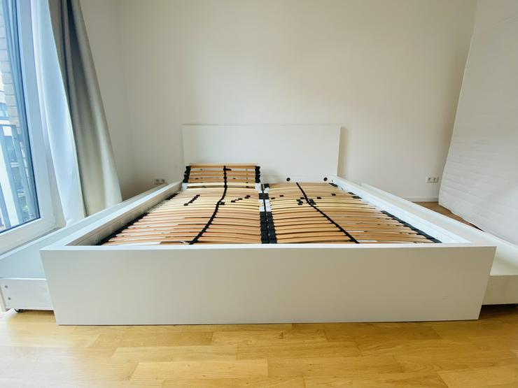Bild 4: IKEA Bett MALM (180x200) inkl. Matratze (180cm) und 2 verstellbare Lattenroste