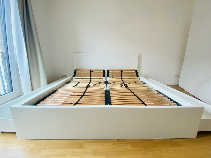 Bild 5: IKEA Bett MALM (180x200) inkl. Matratze (180cm) und 2 verstellbare Lattenroste