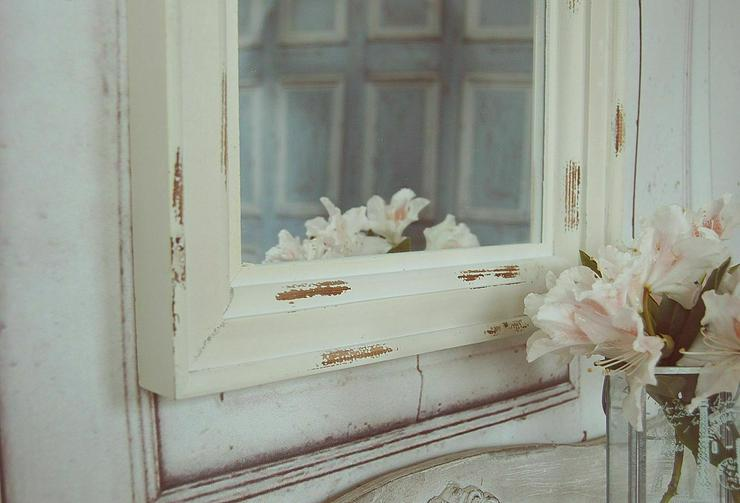 Bild 2: Landhause Spiegel, Wandspiegel LEONIE im antique shabby chic Stil