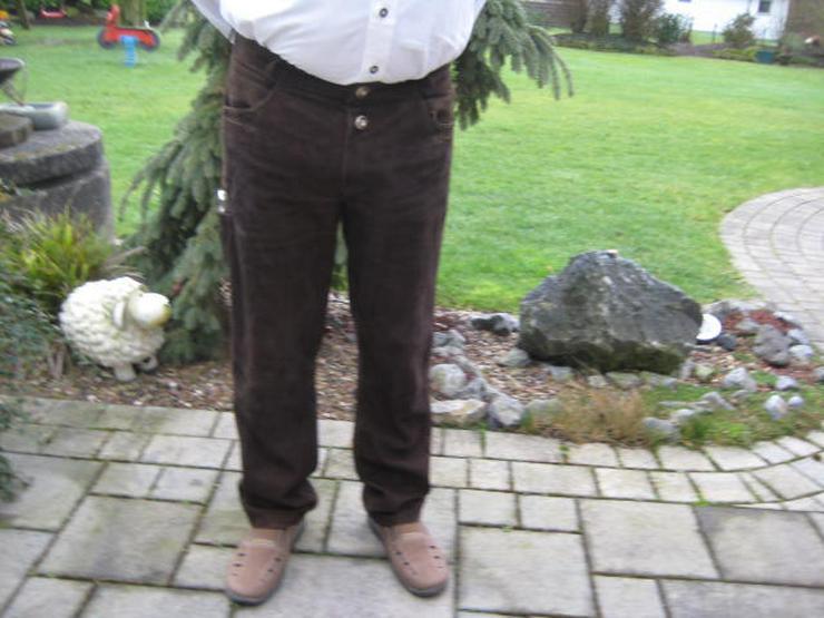 Herren Lederhose lang LEKRA Gr. 52 Echtleder