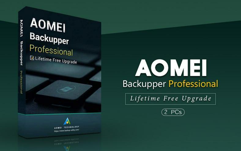 AOMEI Backupper Professional 2PCs - lebenslange Upgrades - Download - 25€