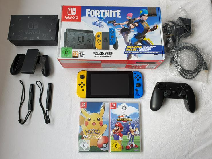 Nintendo Switch Fortnite Special Edition +  Spiele + Controller