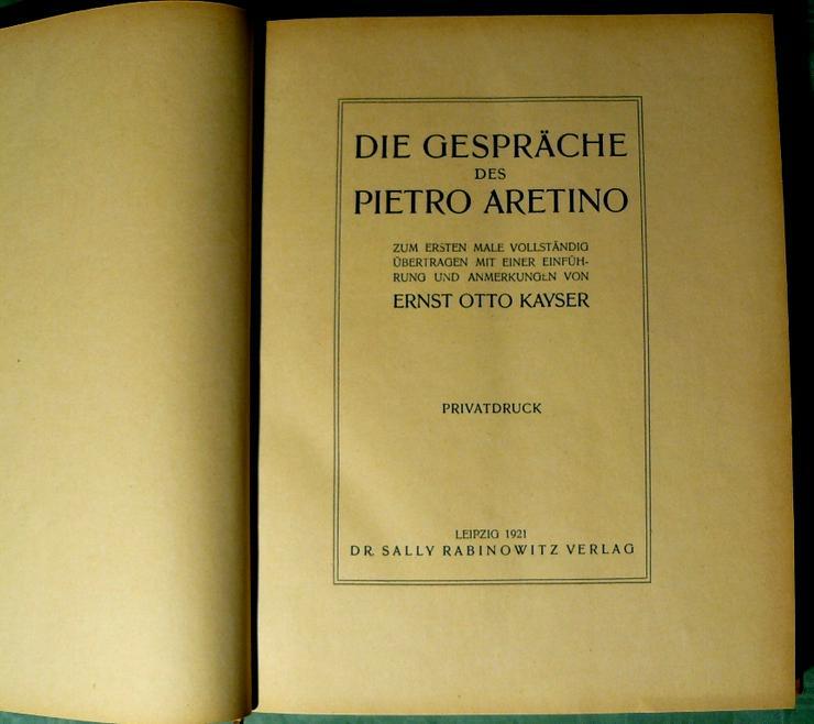 Die Gespräche des Pietro Aretino von 1921 (BU007)