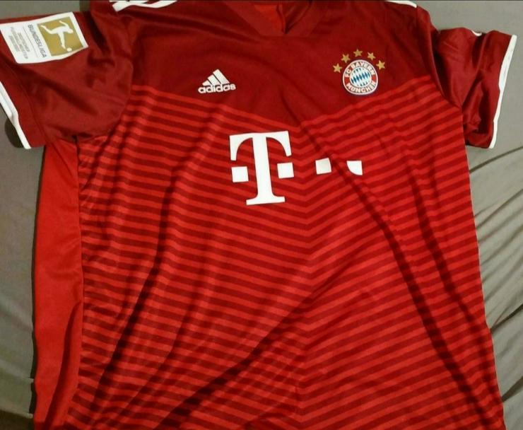 FC Bayern Trikot 21/22 XXL Home mit Müller Flock und Patch