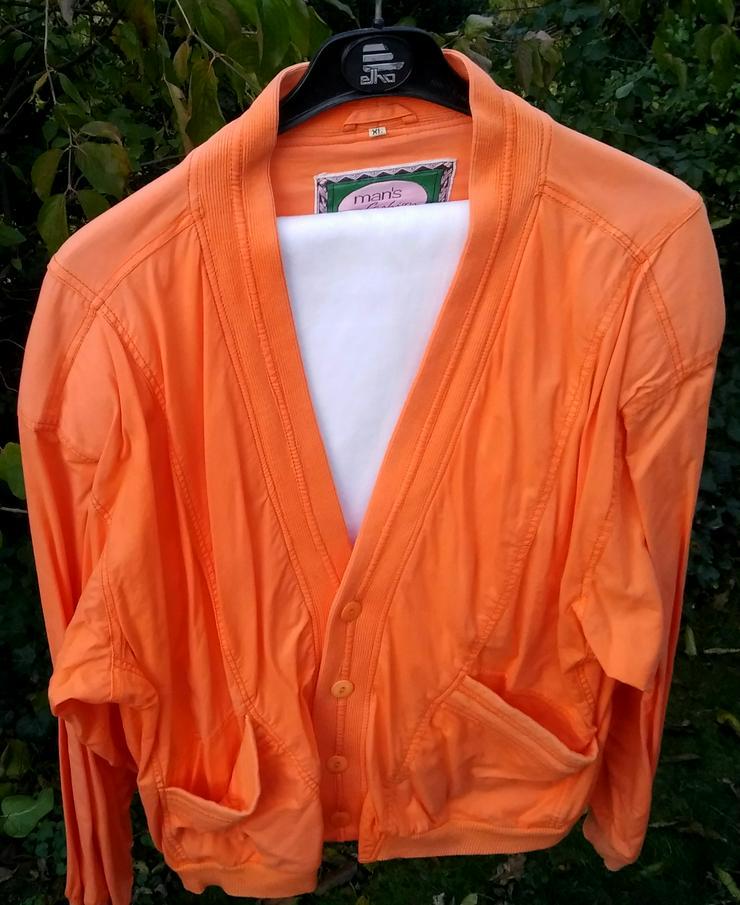 Modischer Cardigan in orange und XL