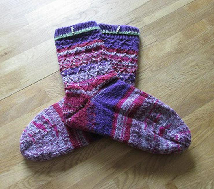 Super schicke handgestrickte Socken Größe 40