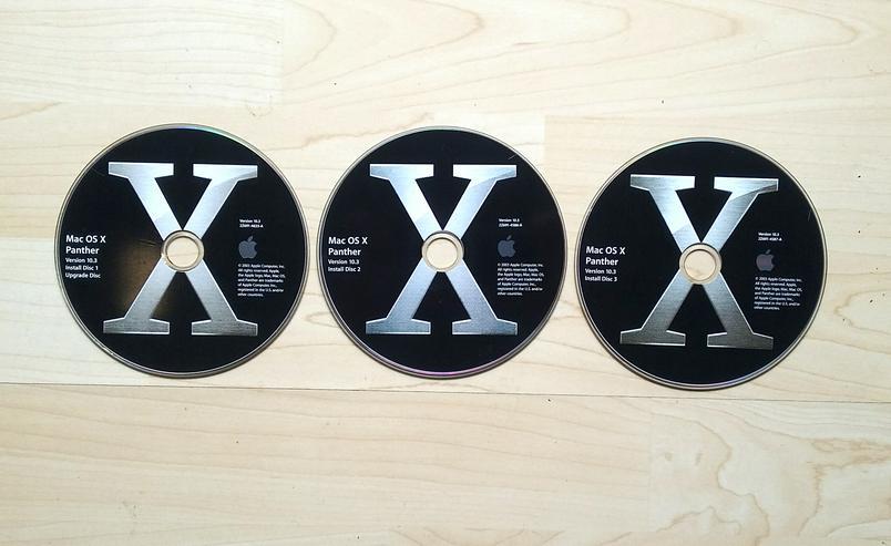 Original MAC OS X 10.3.2 Komplett-Installation Power PC