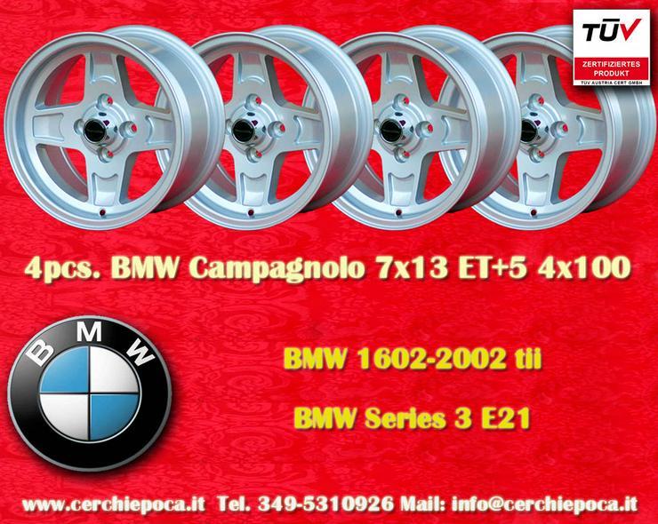 4 Stk. Felgen BMW/OPEL Campagnolo 7x13 ET+5 Lk. 4x