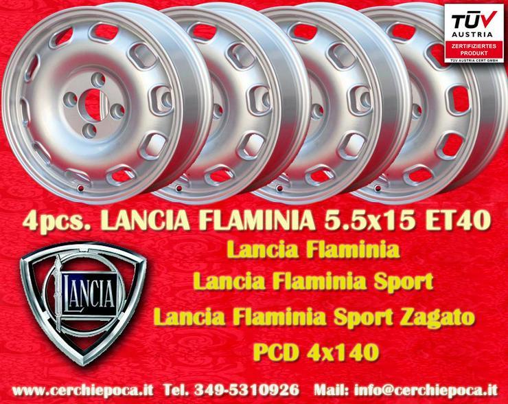 4 felgen Lancia Flaminia 5.5Jx15 ET40 4x145 mit TU