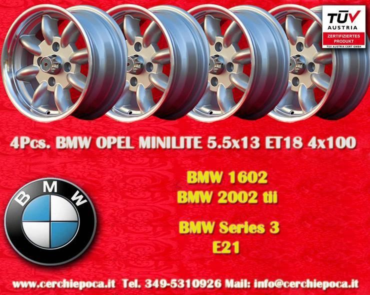 4 BMW/Volkswagen  Minilite 5.5x13 ET18 4x100 Felge