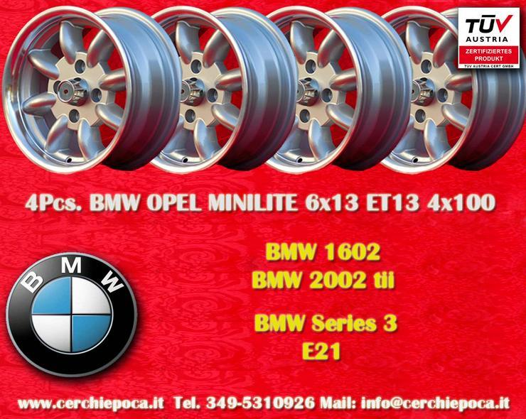 4 Stk. Felgen BMW Minilite 6x13 ET13 4x100 mit TUV