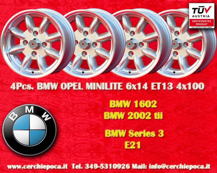4 Stk. Felgen BMW Minilite 6x14 ET13 4x100 mit TUV