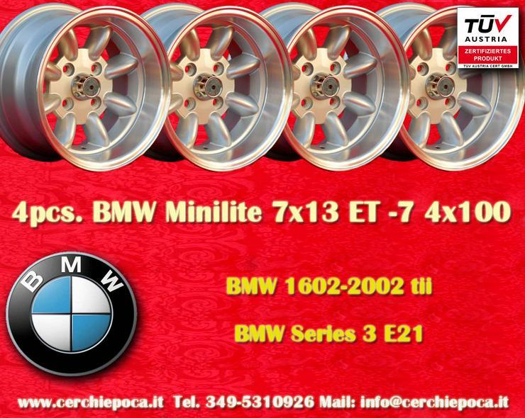 4 Stk. Felgen BMW/OPEL Minilite 7x13 ET-7 Lk. 4x10