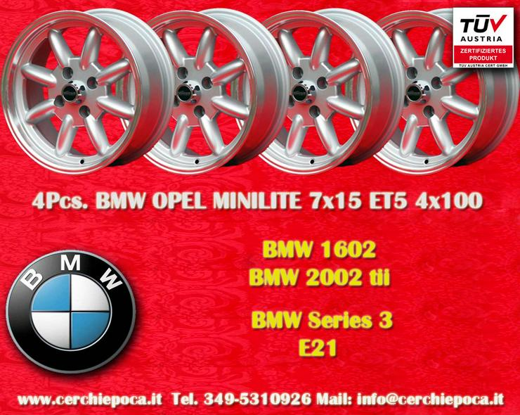 4 Stk. Felgen Minilite BMW/Volkswagen 7x15 4x100 T