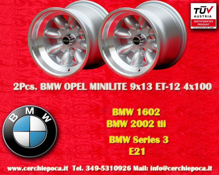 2 Stk. Felgen BMW/OPEL Minilite 9x13 ET-12 Lk. 4x1