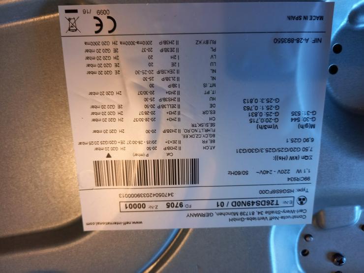 Gas-Kochfeld Neff T26DS49N0D, Edelstahl, neuwertig