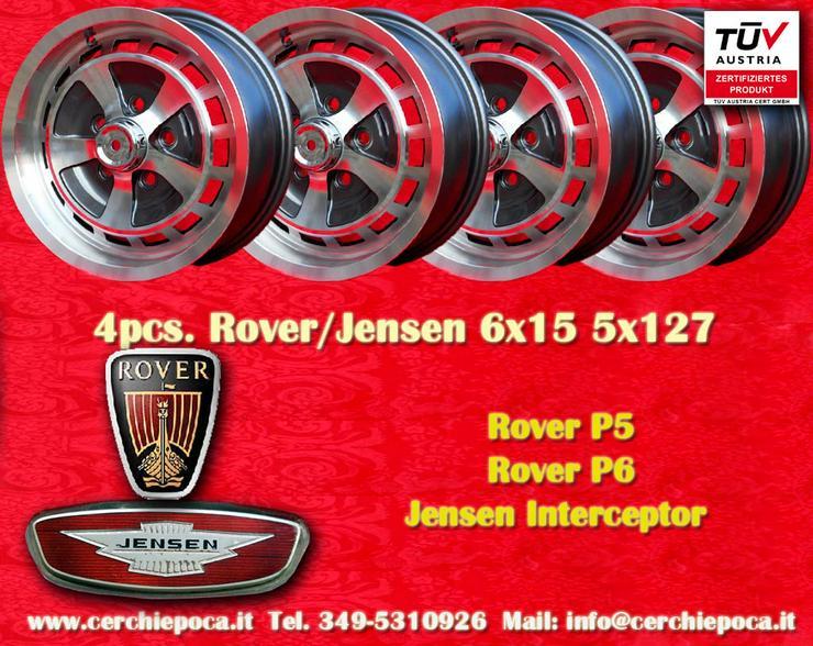 4 Stk Felgen Rover P5 P6 Jensen Interceptor 6x15