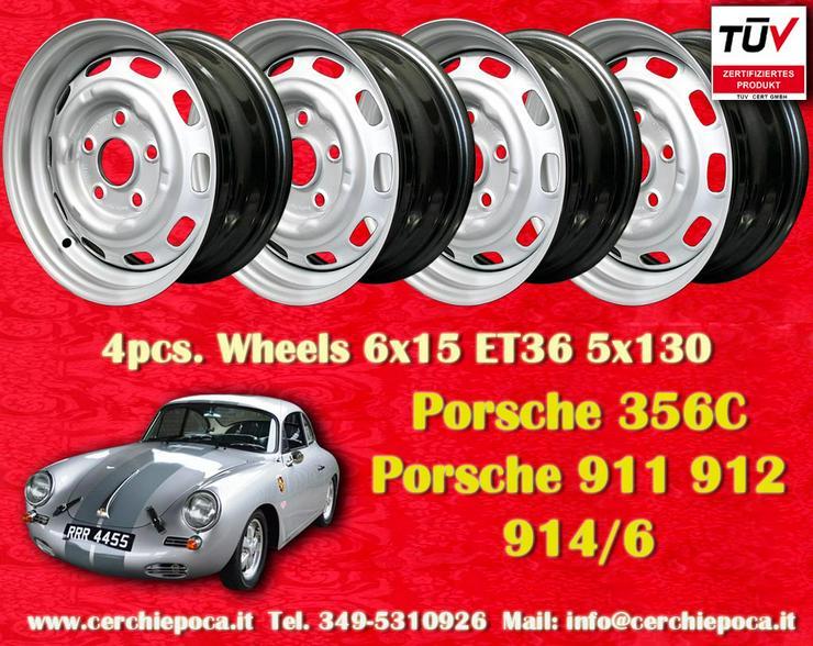 4 Stk. Porsche 911 912 914 6x15 Stahlfelgen