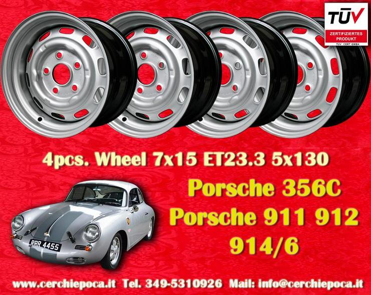 4 Stk. Porsche 911 912 914-6 7x15 Stahlfelgen