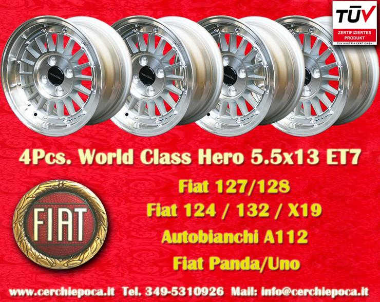 Felgen 5.5x13 Fiat Uno Panda 127 128 A112 X19 850