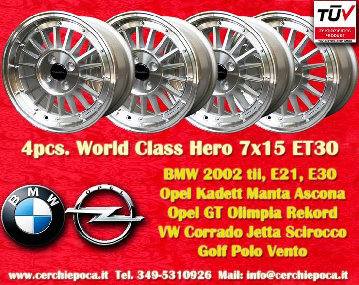 Felgen 7x15 BMW 2002 E21 E30 Opel E21 E30 Opel GT