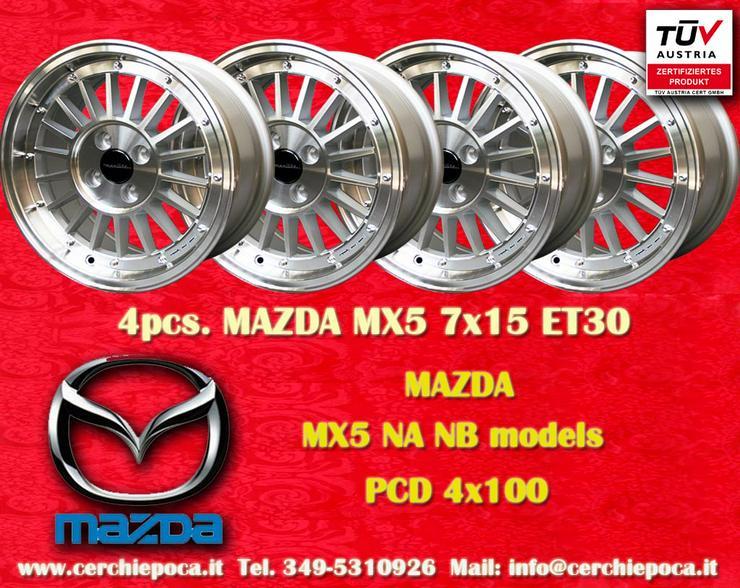 Felgen Mazda MX5 NA NB 7x15 ET30 4x100