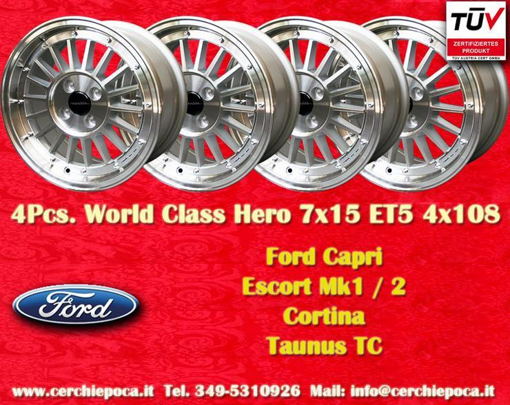 Felgen 7x15 Ford Capri Escort Taunus Talbot Lotus
