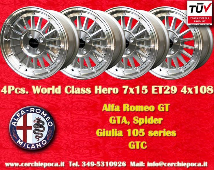 Felgen 7x15 Alfa Romeo Gt GTA Giulia Spider Zagato