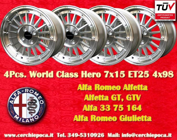 Felgen 7x15 Alfa Romeo 33 75 155 164 Fiat 124 131