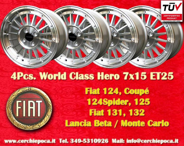 Felgen 7x15 Fiat 124 125 131 132 Beta Montecarlo