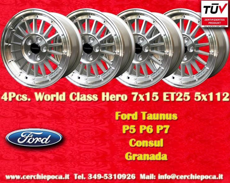 Felgen 7x15 Ford Taunus Granada Consul 7x15 5x112