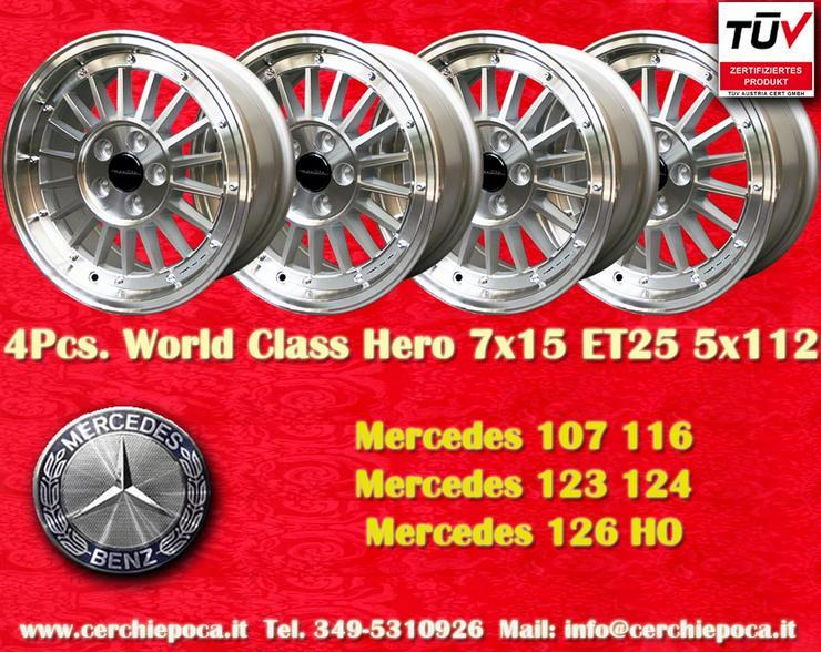 Felgen 7x15 Mercedes 107 114 115 116 126 123 124