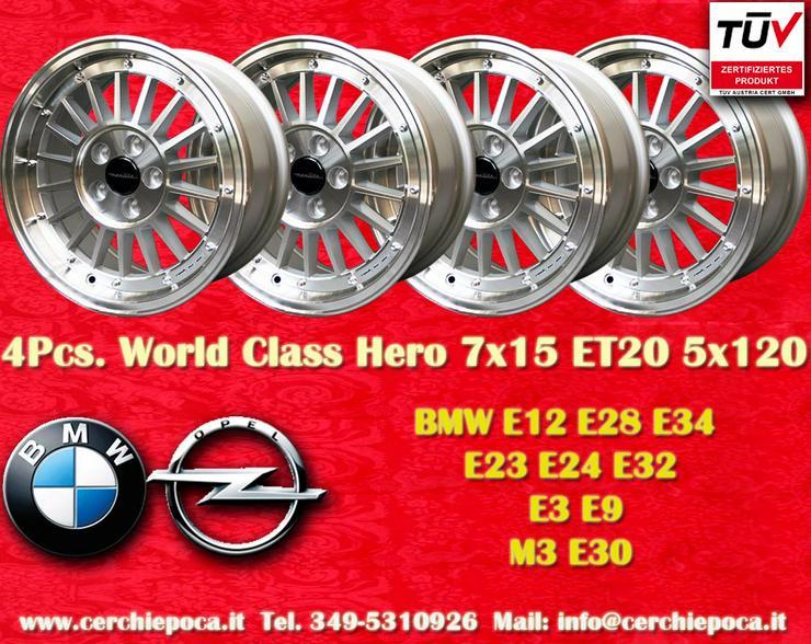 Felgen 7x15 5x120 BMW E12 E28 E34 E24 E23 E32