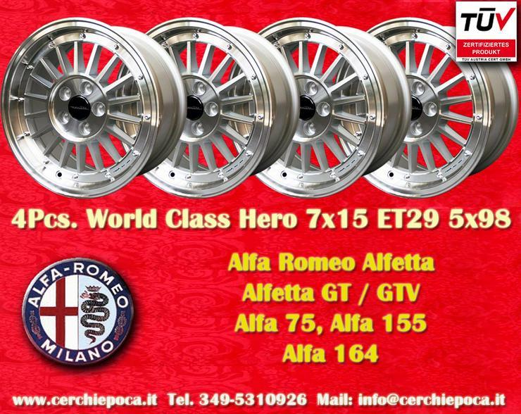 Felgen 7x15 Alfa Romeo Alfetta GTV GTV6 75 155 164