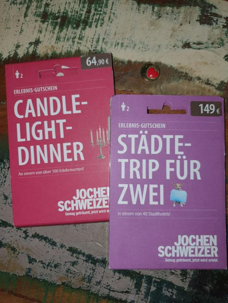 Jochen Schweizer Gutscheine Städtetrip für Zwei & Candle-Light-Dinner  - Urlaub, Flug & Reise - Bild 1