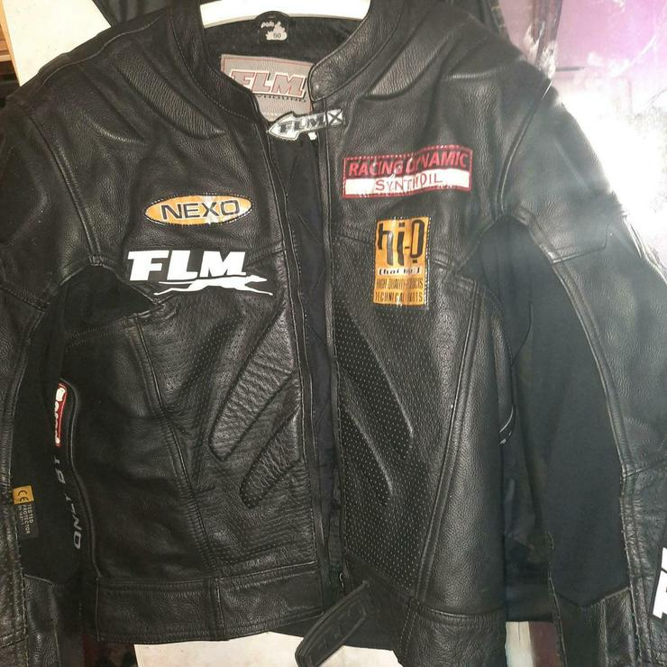 FLM Motorad Jacke Leder Jacke
