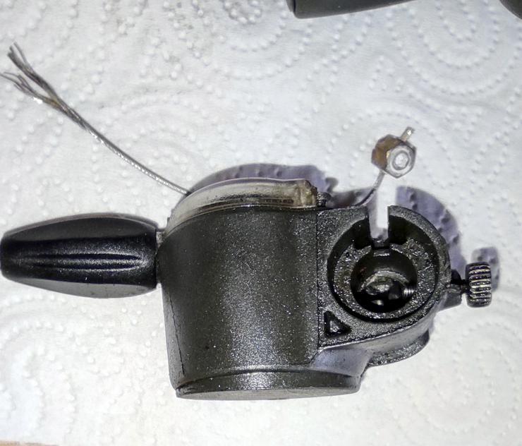 Bild 5: SRAM S7, Schaltgriff, Clickbox, Madenschraube
