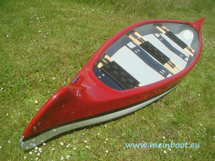 Kanu 3er Kanadier 500 Neu ! in rot /weiß - Kanus, Ruderboote & Paddel - Bild 1