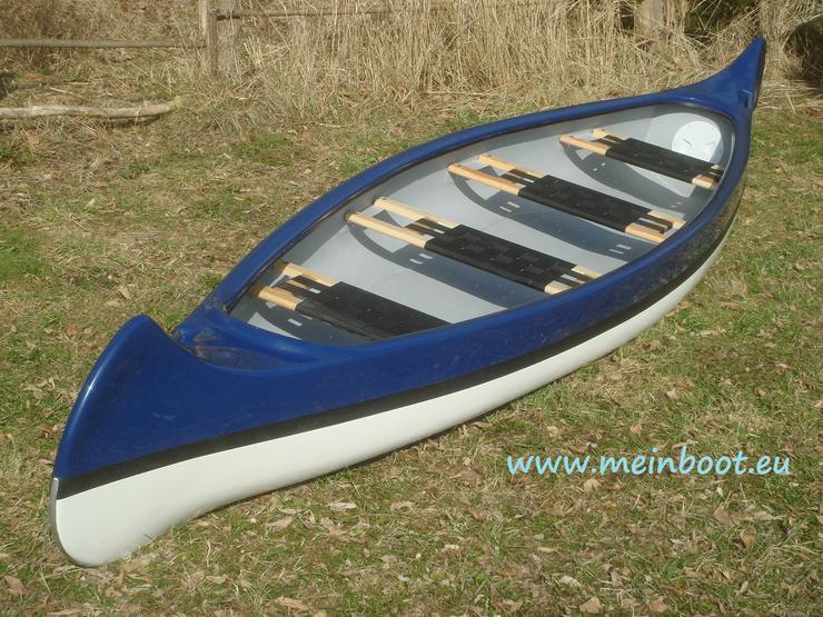 Kanu 4er Kanadier 500 Neu ! in blau /weiß - Kanus, Ruderboote & Paddel - Bild 1