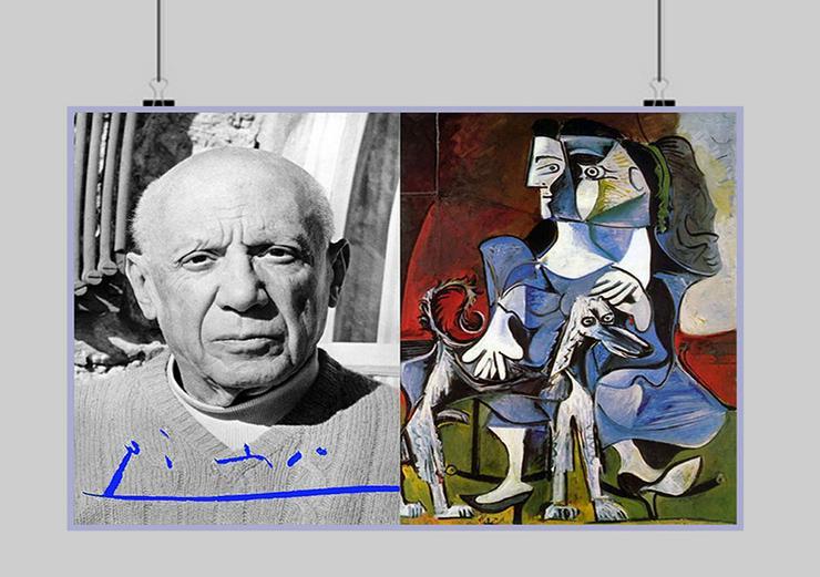 Bild 3: PABLO PICASSO. Kunstwerk. Blickfang! Collage. Star Souvenir. Geschenkidee. Hausdekoration. Einmalig!