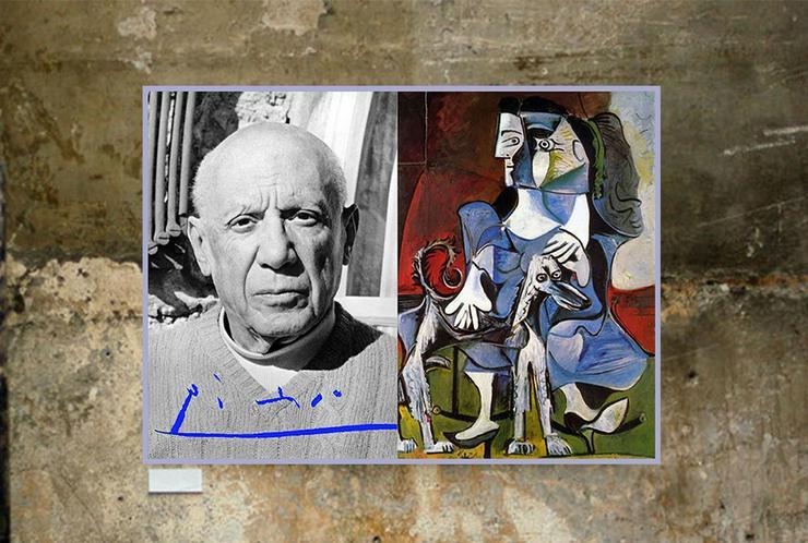 Bild 6: PABLO PICASSO. Kunstwerk. Blickfang! Collage. Star Souvenir. Geschenkidee. Hausdekoration. Einmalig!
