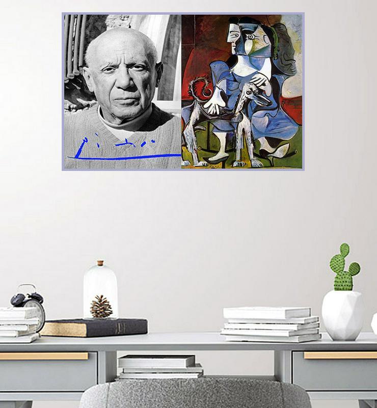 Bild 5: PABLO PICASSO. Kunstwerk. Blickfang! Collage. Star Souvenir. Geschenkidee. Hausdekoration. Einmalig!