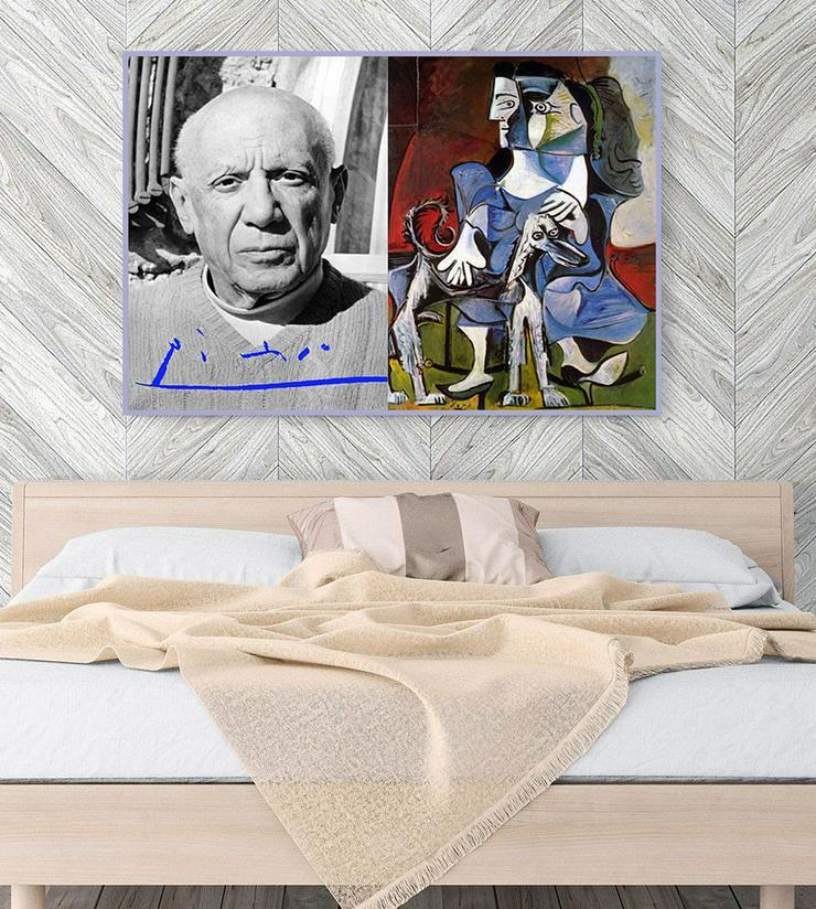 Bild 2: PABLO PICASSO. Kunstwerk. Blickfang! Collage. Star Souvenir. Geschenkidee. Hausdekoration. Einmalig!