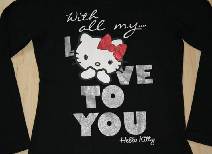 Bild 2: Hello Kitty Kinder Pullover Mädchen Sweatshirt Pulli Love To You Langarmshirt Longsleeve schwarz Gr. 140 NEU