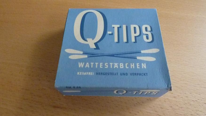 Alte Q-Tips-Wattestäbchen Verkaufsschachtel